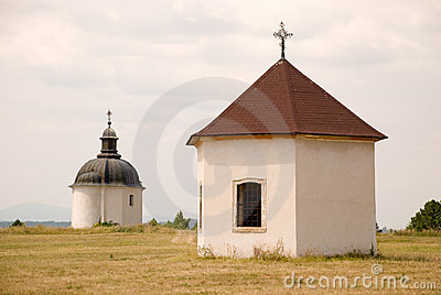 Two chapels on hill