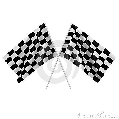 Free Two Checkered Race Flags - A 3d Image Stock Image - 16762151