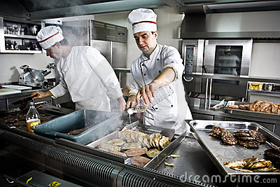 Two chefs