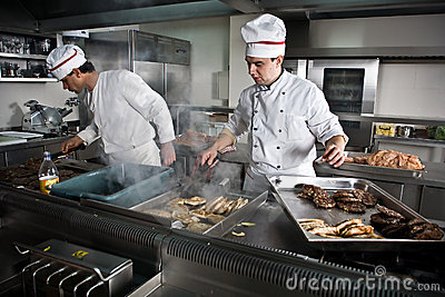 Two chefs at work