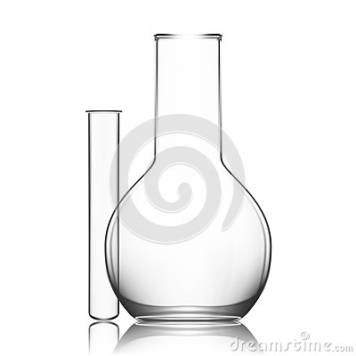 Free Two Chemical Laboratory Glassware Or Beaker. Glass Equipment Empty Clear Test Tube Royalty Free Stock Photos - 79698728