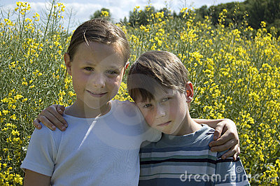 Two Children In Summer