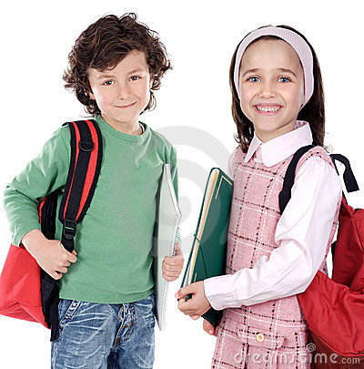 Free Two Childrens Students Royalty Free Stock Images - 4772629