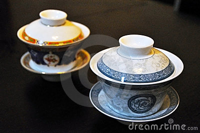 Two Chinese tea cups