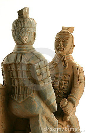 Free Two Chinese Warriors Facing Each Other Stock Photos - 1614833