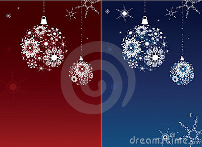 Two Christmas backgrounds.