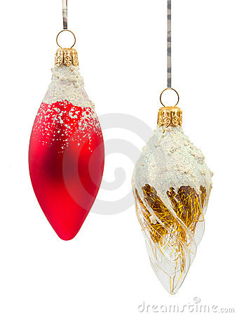 Two christmas decorations