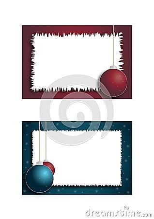 Two christmas frames