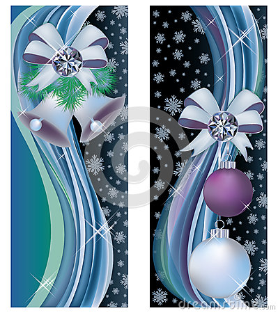 Two christmas greeting banners