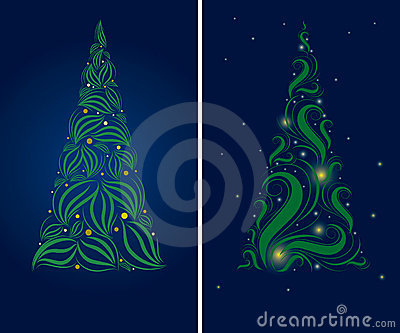 Two Christmas tree backgrounds