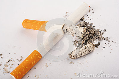 Two Cigarettes, One is Lit