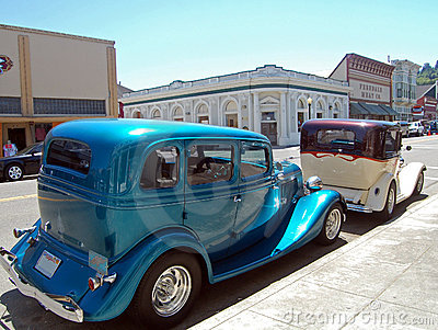 Two classic cars Editorial Stock Photo