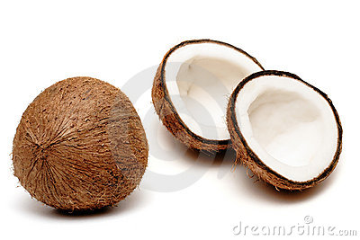 Two coconuts, one cracked