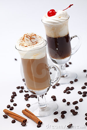 Free Two Coffee Cocktail - Coffee Warmers Royalty Free Stock Image - 10914156