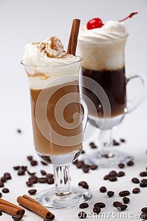 Free Two Coffee Cocktail - Coffee Warmers Stock Photo - 12084000