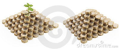 Two coin pyramids