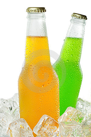 Two cold beverages