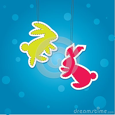 Two Color Christmass Hare. Vector Illustration Stock Images - Image: 17568524