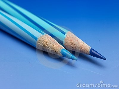 Two color pencils