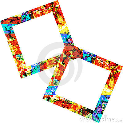 Two Colorful Square Frames