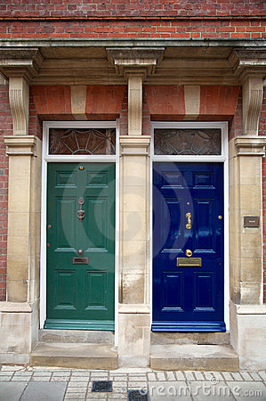 Two colour doors,building or home