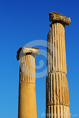 Two columns in Ephesus