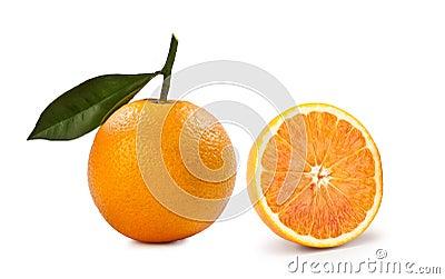 Blonde Orange – `Arancia Bionda` on White Background Stock Photo