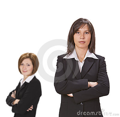 Two confident businesswomen