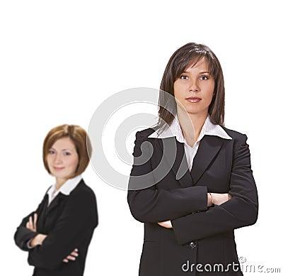 Two confident businesswomen