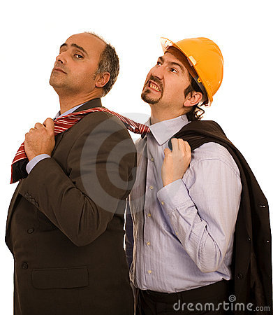 Two construction business men