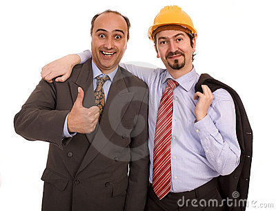 Two construction business men