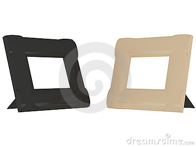 Two contrast frames isolated on the white