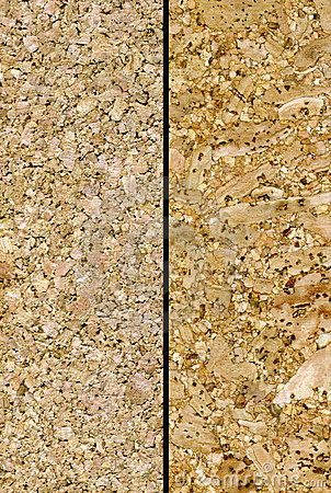 Two cork textures
