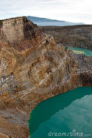 Two crater lakes seen from above
