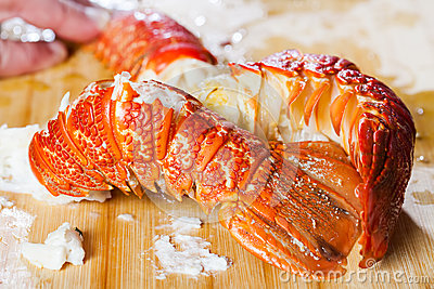 Two crayfish tails.
