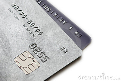 Two credit cards isolated