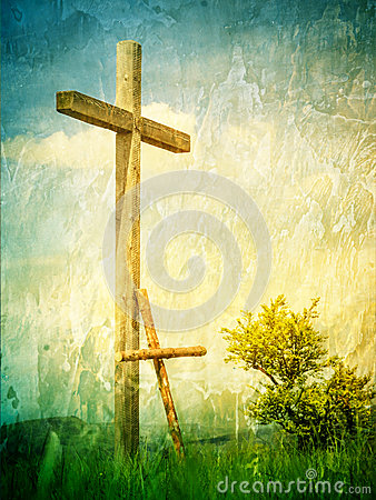 Free Two Crosses - A Symbol Of Following Jesus Christ Stock Images - 59188864