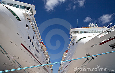 Two Cruise Ships Docked