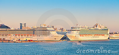 Two Cruise Ships in Port Everglades
