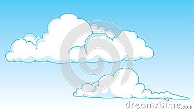 Two cumulus clouds