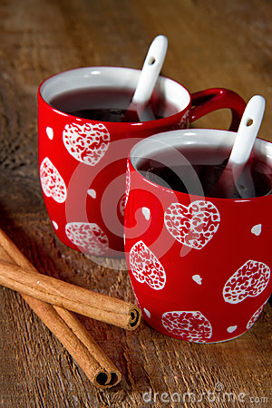 Two cups of mulled wine