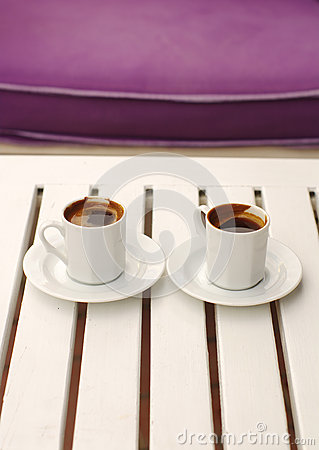 Free Two Cups Of Coffee. Stock Photo - 73078180