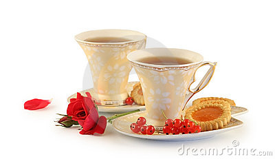 Two cups of tea.