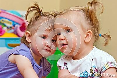 Two cute baby girls