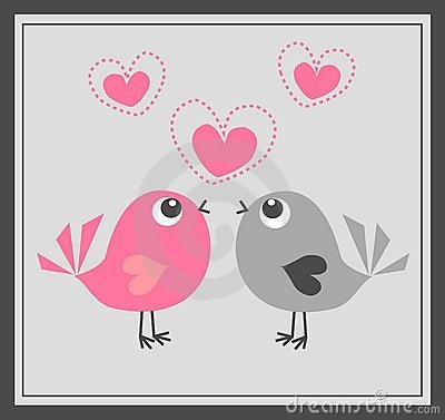 Free Two Cute Birds In Love Royalty Free Stock Image - 17786446