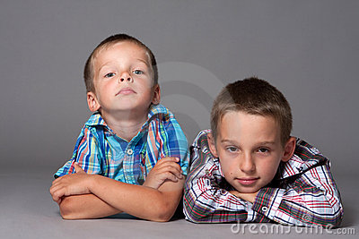 Two cute brother