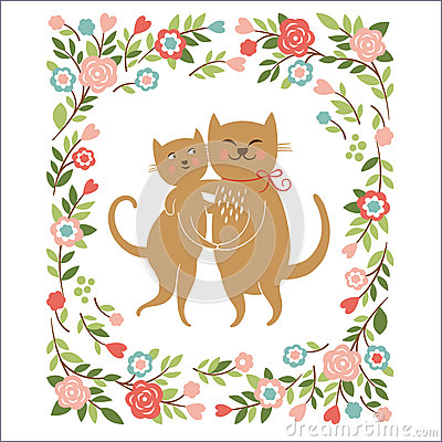 Free Two Cute Cats Royalty Free Stock Photo - 37283375