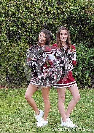 Two Cute Cheerleaders
