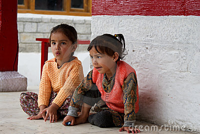 Two cute Indian girls Editorial Photography