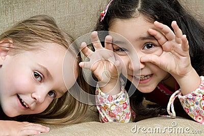 Two cute little girls